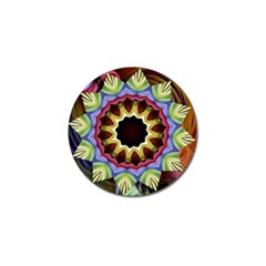 Love Energy Mandala Golf Ball Marker