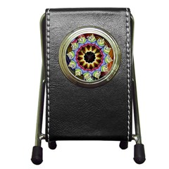 Love Energy Mandala Pen Holder Desk Clocks