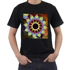Love Energy Mandala Men s T Shirt (black) (two Sided)