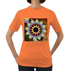 Love Energy Mandala Women s Dark T Shirt