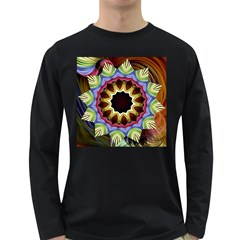 Love Energy Mandala Long Sleeve Dark T Shirts