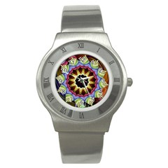 Love Energy Mandala Stainless Steel Watch