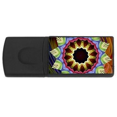 Love Energy Mandala Rectangular Usb Flash Drive