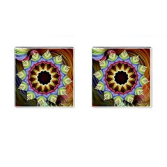 Love Energy Mandala Cufflinks (square)