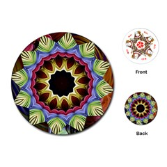 Love Energy Mandala Playing Cards (round)