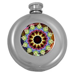 Love Energy Mandala Round Hip Flask (5 Oz)