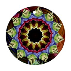 Love Energy Mandala Round Ornament (two Sides)