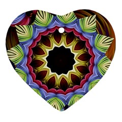 Love Energy Mandala Heart Ornament (two Sides)