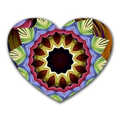 Love Energy Mandala Heart Mousepads