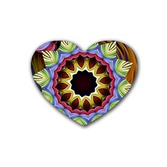 Love Energy Mandala Heart Coaster (4 Pack)
