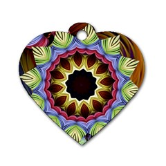 Love Energy Mandala Dog Tag Heart (two Sides)
