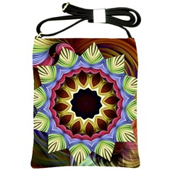 Love Energy Mandala Shoulder Sling Bags by designworld65