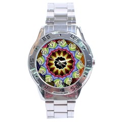 Love Energy Mandala Stainless Steel Analogue Watch