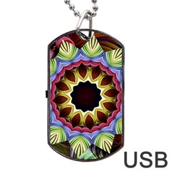 Love Energy Mandala Dog Tag Usb Flash (two Sides) by designworld65