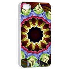 Love Energy Mandala Apple Iphone 4/4s Seamless Case (white) by designworld65