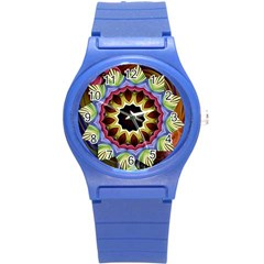Love Energy Mandala Round Plastic Sport Watch (s) by designworld65