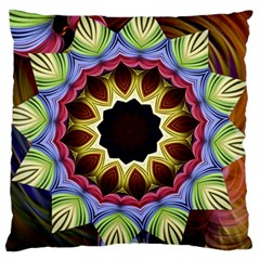 Love Energy Mandala Large Cushion Case (one Side) by designworld65