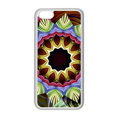 Love Energy Mandala Apple Iphone 5c Seamless Case (white) by designworld65