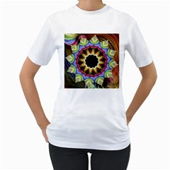 Love Energy Mandala Women s T Shirt (white)  by designworld65