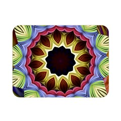 Love Energy Mandala Double Sided Flano Blanket (mini)  by designworld65