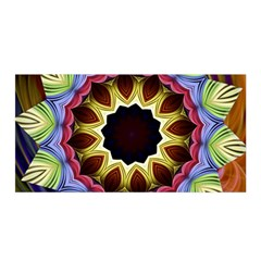 Love Energy Mandala Satin Wrap by designworld65