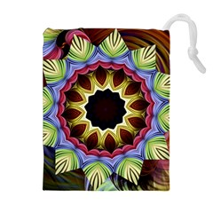 Love Energy Mandala Drawstring Pouches (extra Large)