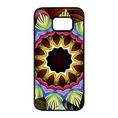 Love Energy Mandala Samsung Galaxy S7 Edge Black Seamless Case