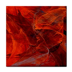 Swirly Love In Deep Red Tile Coasters by designworld65