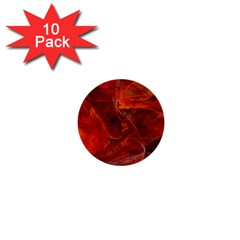 Swirly Love In Deep Red 1  Mini Buttons (10 Pack)