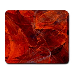 Swirly Love In Deep Red Large Mousepads by designworld65