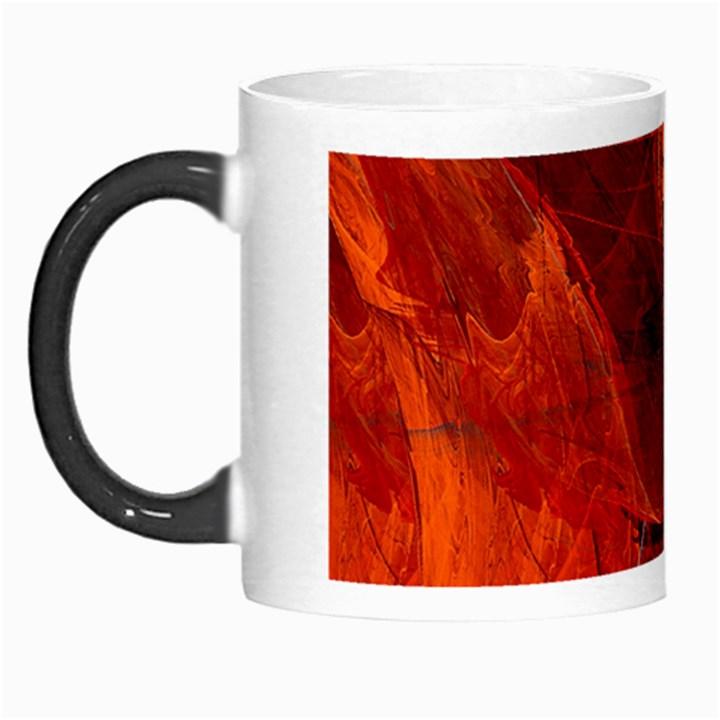 Swirly Love In Deep Red Morph Mugs