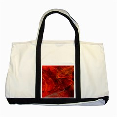 Swirly Love In Deep Red Two Tone Tote Bag by designworld65