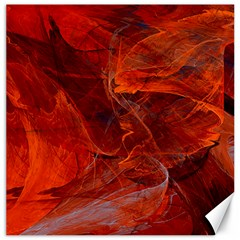 Swirly Love In Deep Red Canvas 20  X 20   by designworld65