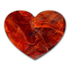Swirly Love In Deep Red Heart Mousepads by designworld65