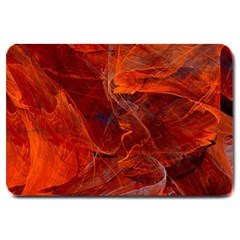 Swirly Love In Deep Red Large Doormat  by designworld65