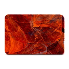 Swirly Love In Deep Red Plate Mats by designworld65