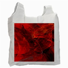 Swirly Love In Deep Red Recycle Bag (one Side)