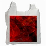 Swirly Love In Deep Red Recycle Bag (One Side) Front