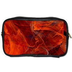 Swirly Love In Deep Red Toiletries Bags 2 Side by designworld65