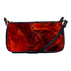 Swirly Love In Deep Red Shoulder Clutch Bags