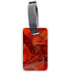 Swirly Love In Deep Red Luggage Tags (one Side)