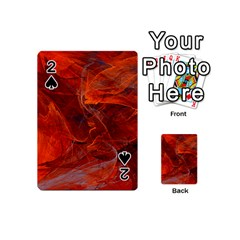 Swirly Love In Deep Red Playing Cards 54 (mini)
