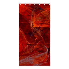 Swirly Love In Deep Red Shower Curtain 36  X 72  (stall)