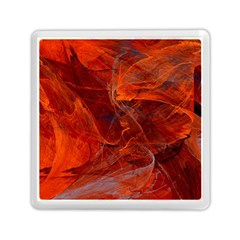 Swirly Love In Deep Red Memory Card Reader (square)