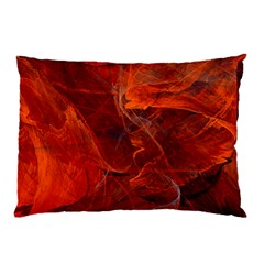 Swirly Love In Deep Red Pillow Case (two Sides)