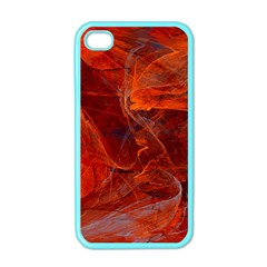 Swirly Love In Deep Red Apple Iphone 4 Case (color)