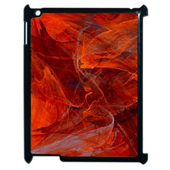 Swirly Love In Deep Red Apple Ipad 2 Case (black)