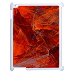 Swirly Love In Deep Red Apple Ipad 2 Case (white)
