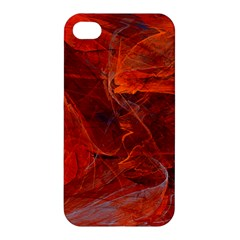 Swirly Love In Deep Red Apple Iphone 4/4s Hardshell Case