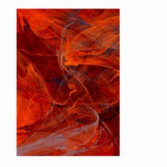 Swirly Love In Deep Red Large Garden Flag (two Sides) by designworld65